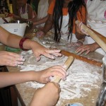 Rolling some dough